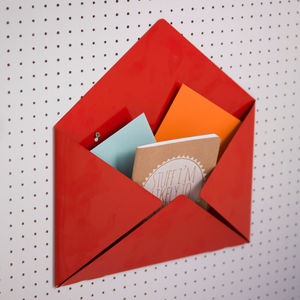 Metal Envelope Mail Box Tidy - decorative accessories