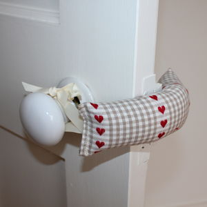 Gingham Door Jammer - decorative accessories