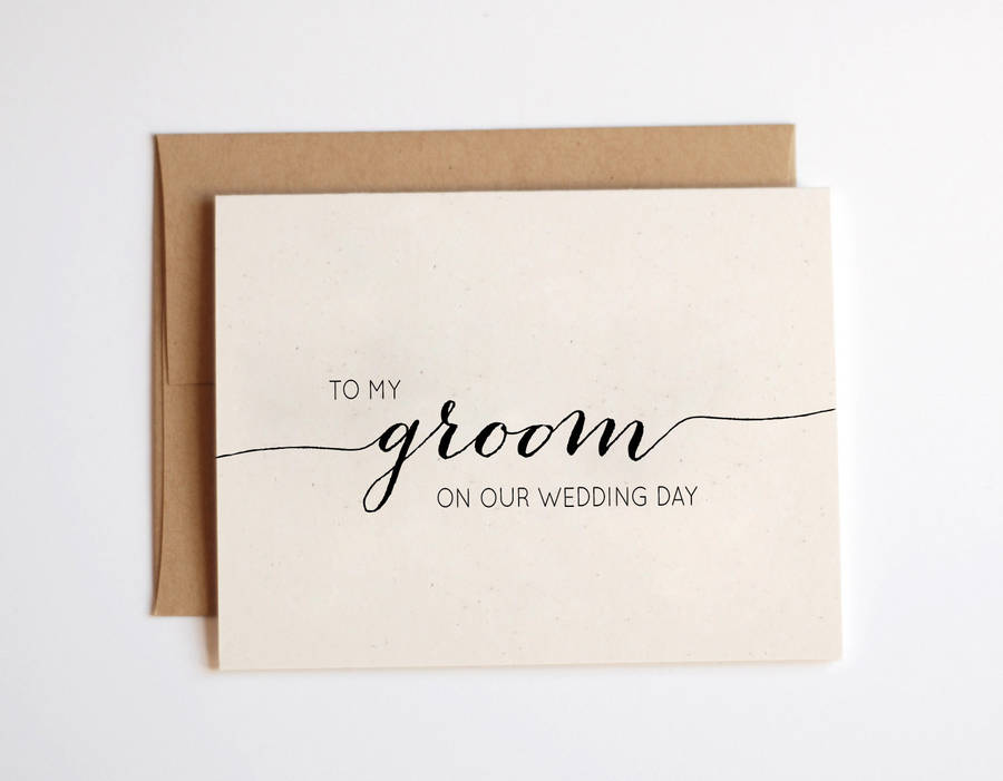 to my groom wedding day card by here s to us