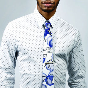 Marin Tales Printed Necktie - men's accessories