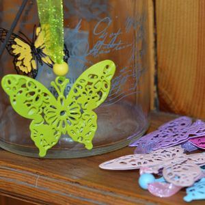 Six Filigree Butterfly Decorations