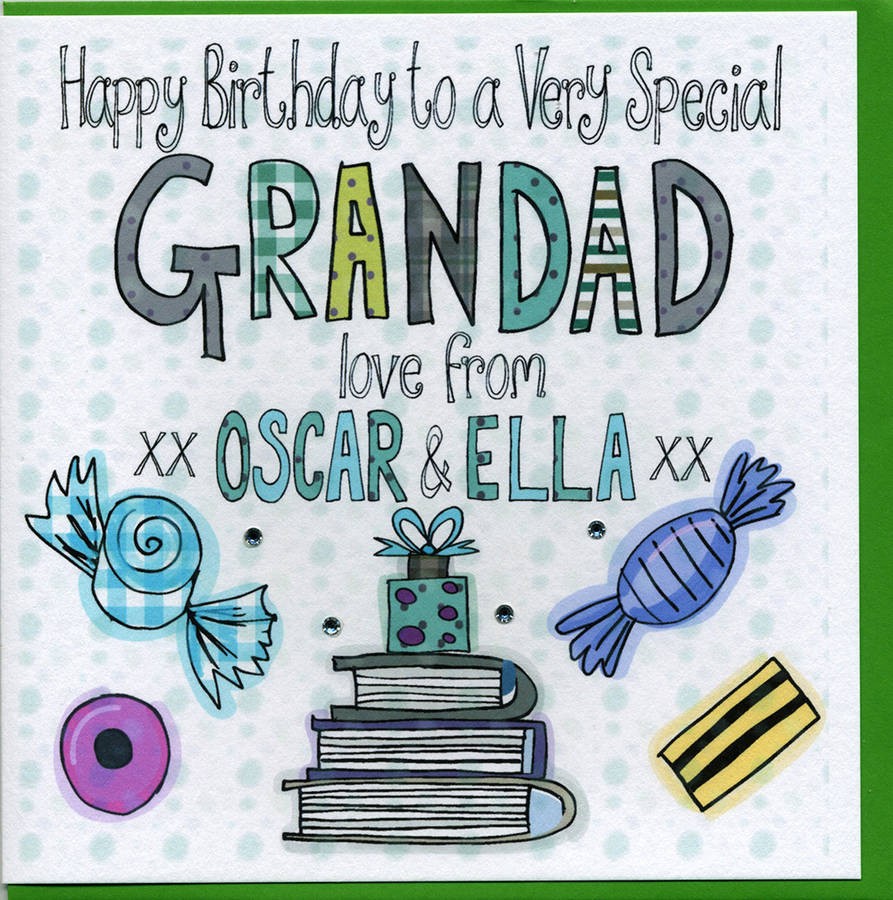 Personalised Grandad Birthday Card By Claire Sowden Design