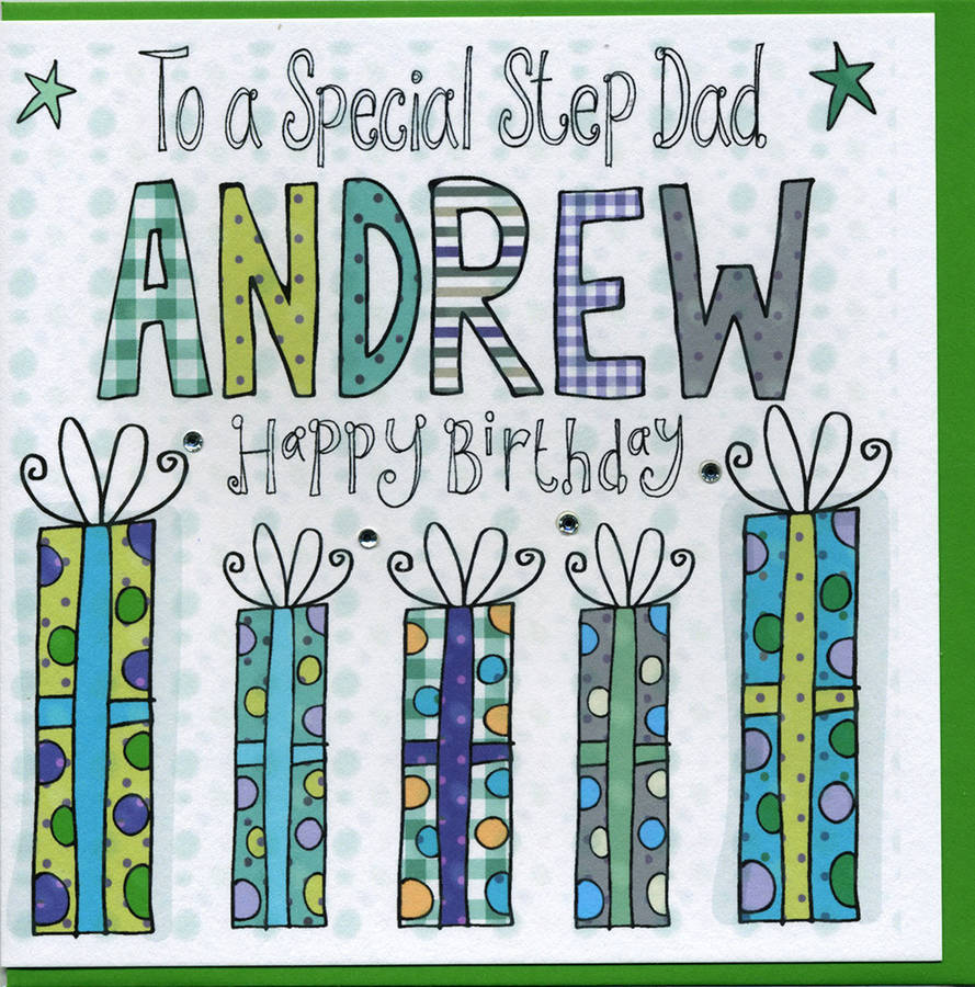 personalised step dad birthday card by claire sowden design – Step Dad Birthday Cards