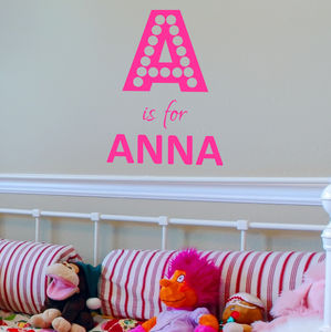 Personalised Dotty Letter Wall Sticker - wall stickers
