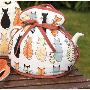 Cats In Waiting Muff Tea Cosy - kitchen accessories