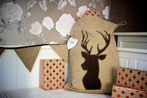 Personalised Luxury Country Reindeer Santa Sack - stockings & sacks
