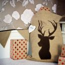 Personalised Luxury Country Reindeer Santa Sack