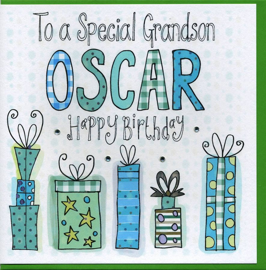 Personalised grandson birthday card by claire sowden design personalised grandson birthday card bookmarktalkfo Gallery