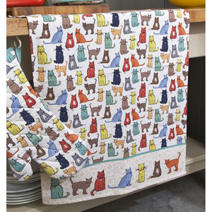 Catwalk Cotton Tea Towel - kitchen accessories