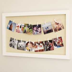 Large 'Photo Line' Peg Frame