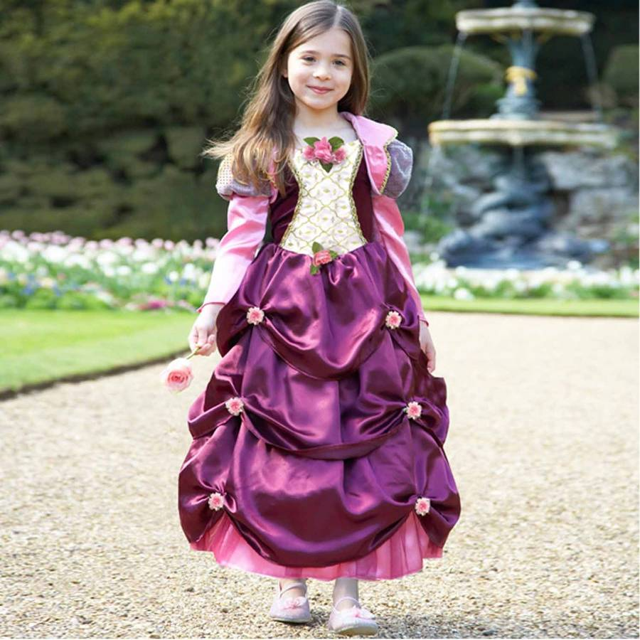 Dress Up: Girl's Damson Duchess Dress Up Costume By Time To Dress Up