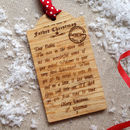 Personalised Babies First Letter From Santa Christmas Wooden Gift Tag
