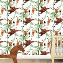 Swinging Orangutans Child's Wallpaper