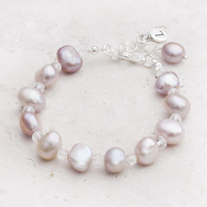 Nala Silver And Pearl Personalised Bracelet