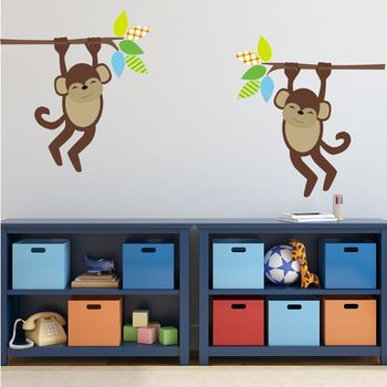 Jungle Monkey Wall Stickers