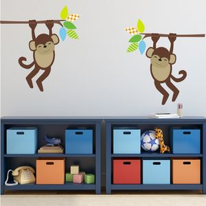 Jungle Monkey Wall Stickers - children's room