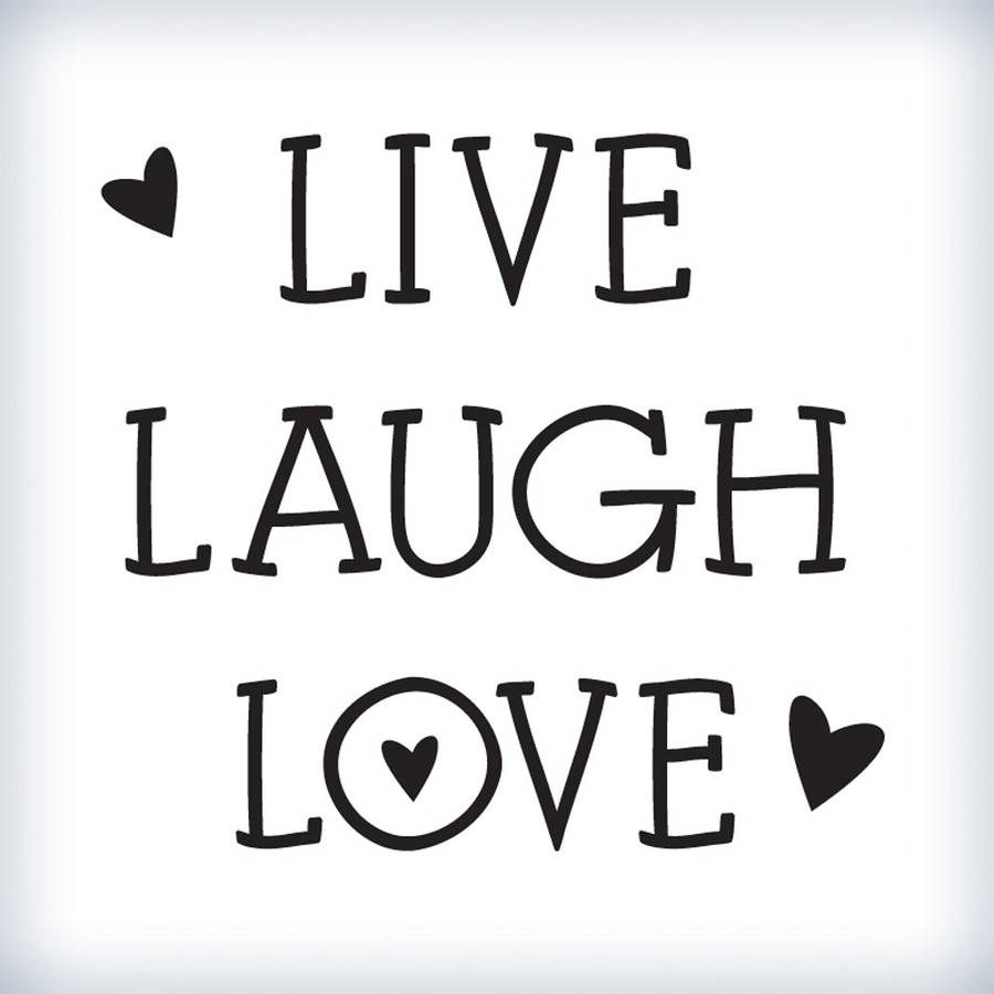 mini hearts 39 live laugh love 39 wall sticker by wall art. Black Bedroom Furniture Sets. Home Design Ideas