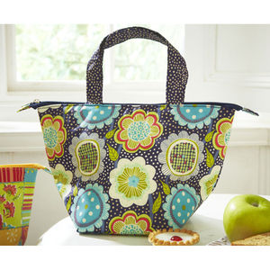 Flower Power Insulated Pvc Lunch Bag - picnics & bbqs