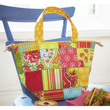 Martha Patchwork Insulated Pvc Lunch Bag