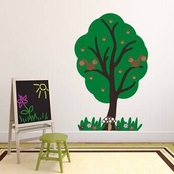 Squirrel Tree Woodland Wall Sticker