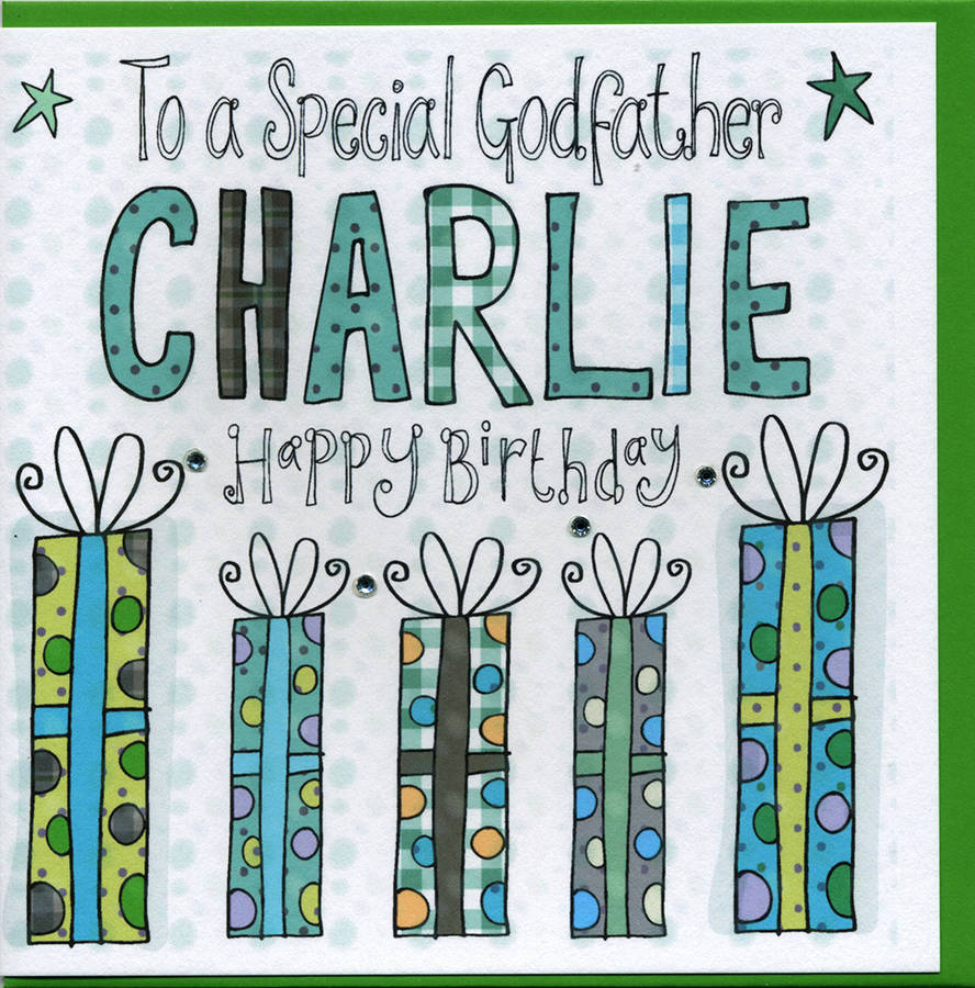 Personalised Godfather Birthday Card