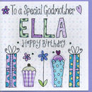 Personalised Godmother Birthday Card