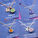 Birthstone Charm Necklace On Gift Card