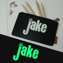 Personalised Glow In The Dark Pencil Case