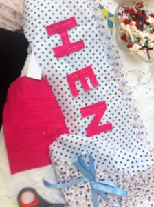 Afternoon Tea And Hen Party Sash Making - hen party gifts & styling