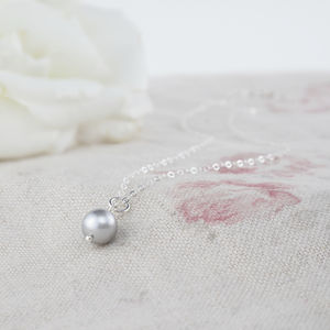 Alexia Grey Pearl And Sterling Silver Pendant - wedding jewellery