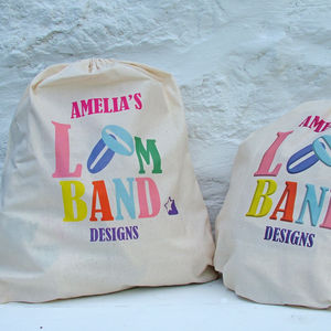 Personalised Loom Band Bag
