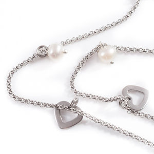 Pearl And Heart Necklace - charm jewellery