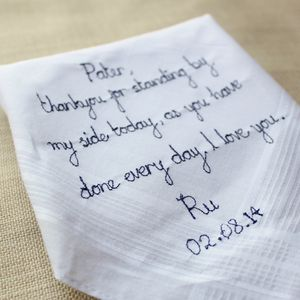 Groom's Wedding Day Handkerchief - wedding favours