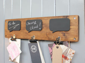 Reclaimed Wood Chalkboard Noticeboard - noticeboards