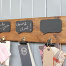 Reclaimed Wood Chalkboard Noticeboard