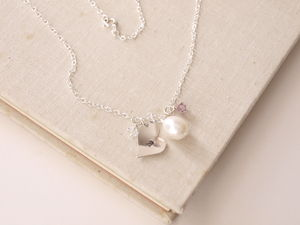 Personalised Silver Initial Heart Necklace