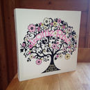 Personalised Baby Name Tree Canvas