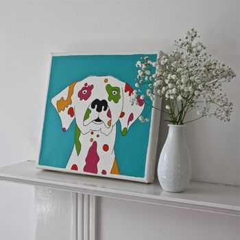 Coloured Dalmatian Original Canvas Art