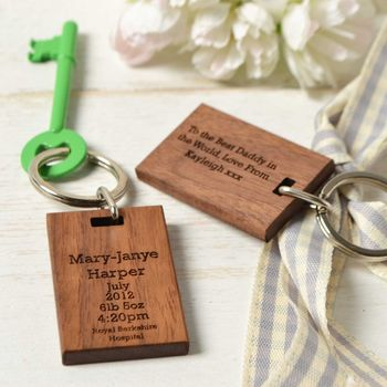 'Day You Were Born' New Baby Keyring