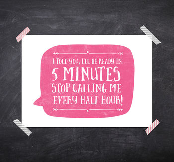 Ready In Five Minutes! Print