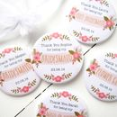 Personalised Floral Bridesmaid Pocket Mirror