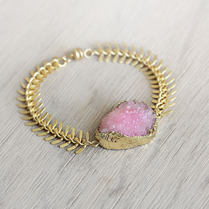 Druzy Gemstone Bracelet - women's jewellery