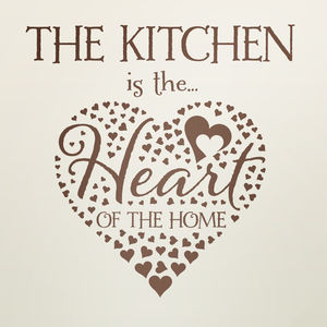 Kitchen Wall Sticker Heart Of The Home - wall stickers