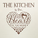 'Heart Of The Home' Kitchen Wall Sticker
