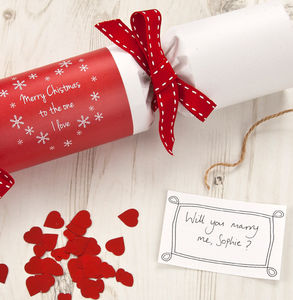 Pop The Question Recycled Cracker Christmas Kit
