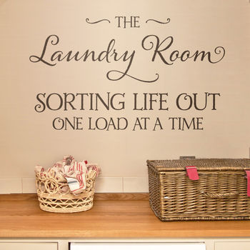 'Laundry Room' Quote Wall Sticker