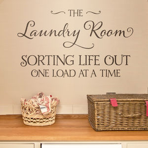 Laundry Room Wall Sticker - wall stickers