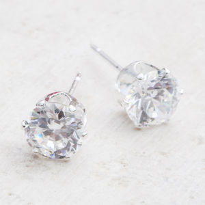 Lara Crystal Sterling Silver Stud Earrings - wedding fashion