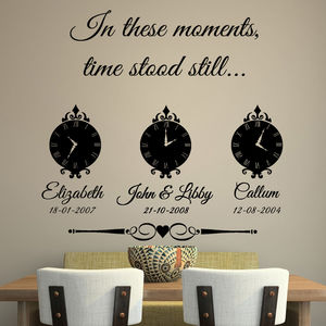 'In These Moments Time Stood Still' Wall Sticker - wall stickers