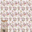 Vintage Meadow In Pink Wallpaper